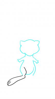 Как нарисовать Мью 5