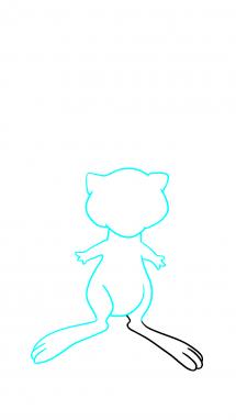 Как нарисовать Мью 6