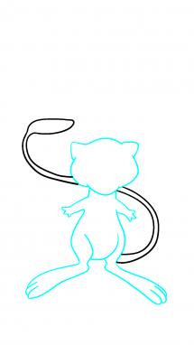 Как нарисовать Мью 7