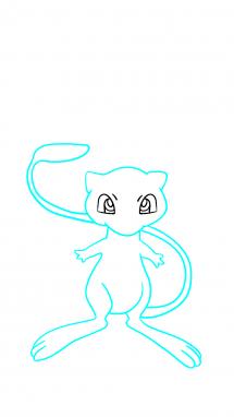 Как нарисовать Мью 8