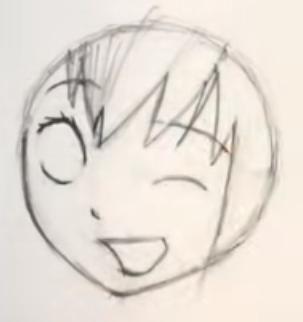Как нарисовать Пени Паркер 4