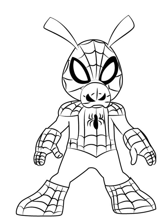Рисуем Свина паука 00