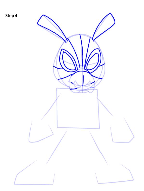Рисуем Свина паука 4