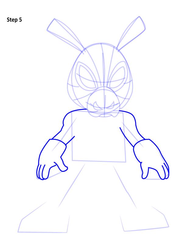 Рисуем Свина паука 5