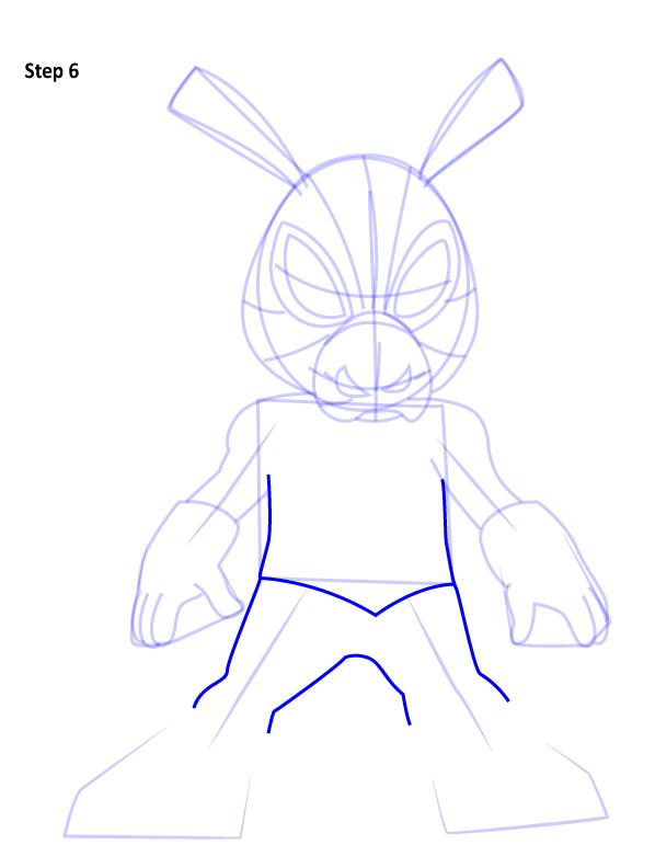 Рисуем Свина паука 6