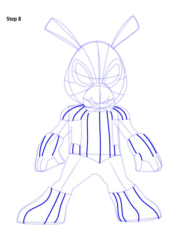 Рисуем Свина паука 8