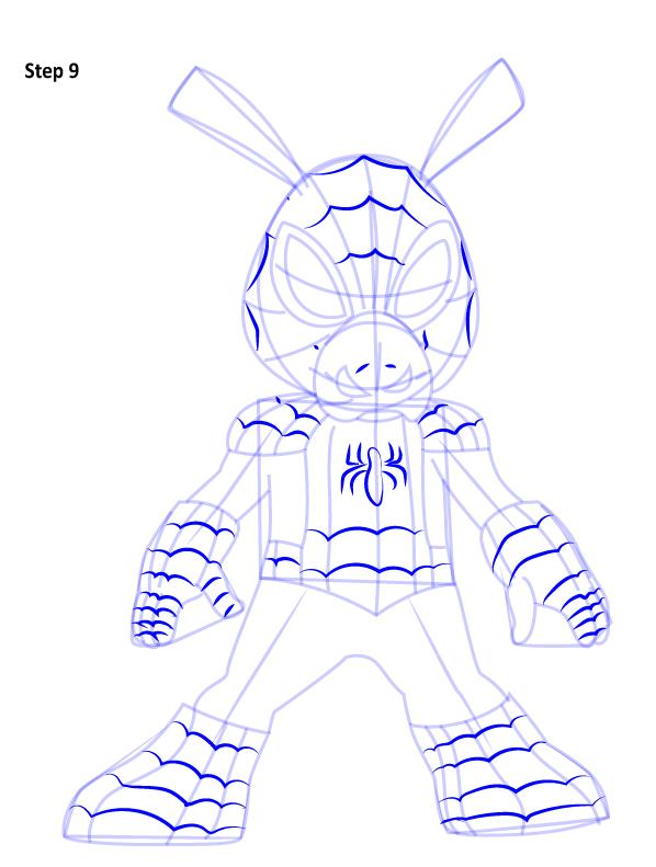 Рисуем Свина паука 9