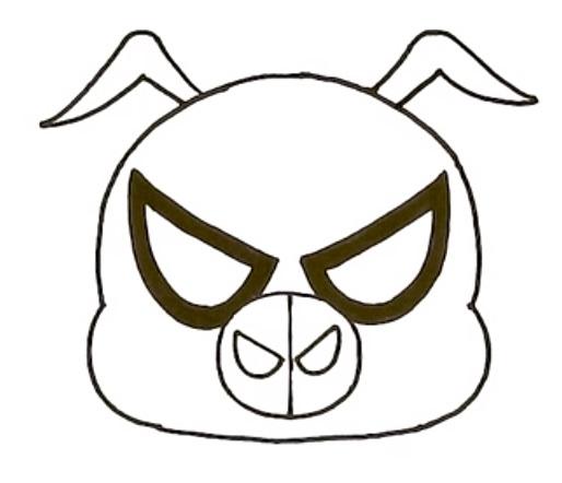 Как нарисовать Свина Паука 5