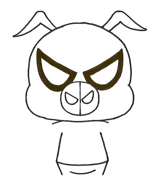 Как нарисовать Свина Паука 6