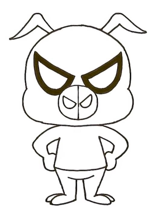 Как нарисовать Свина Паука 8