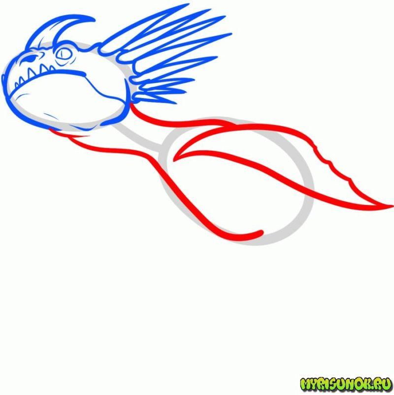 Рисуем дракона Громгильду4