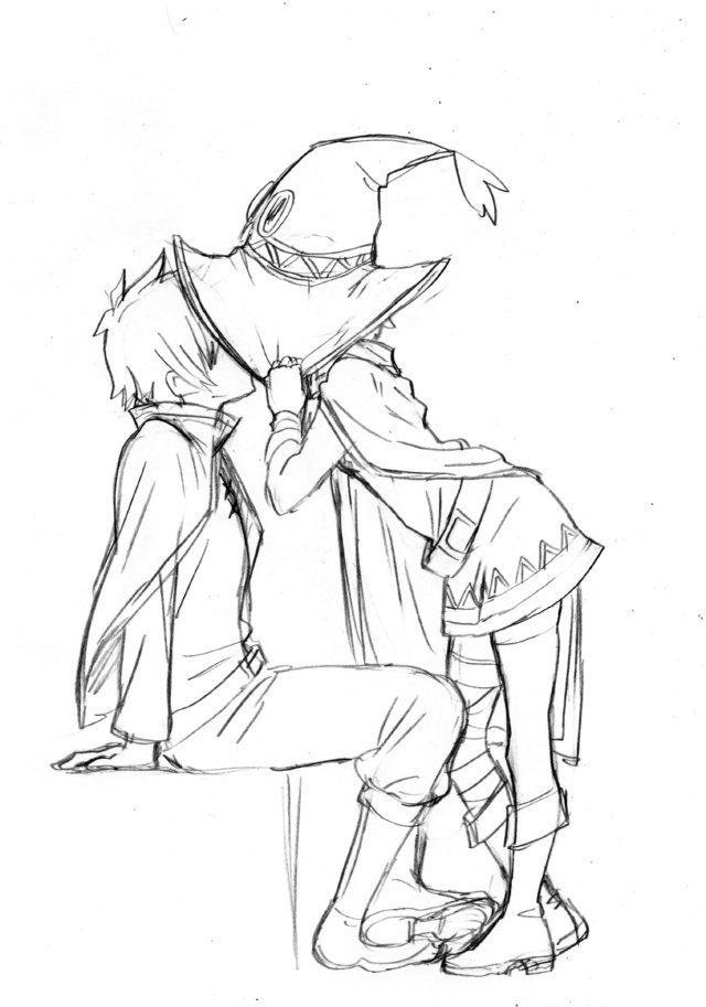 Срисовка раскраска Мегумин 9