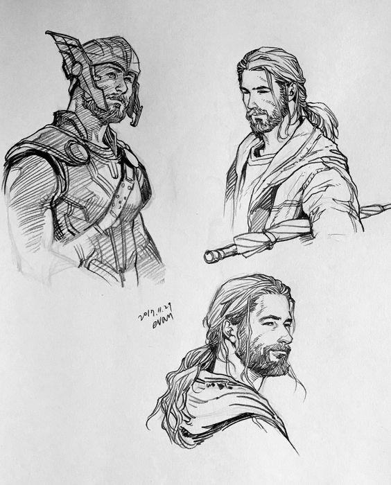 Срисовки Тора из Марвел 10