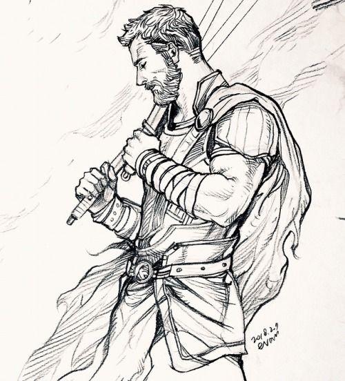 Срисовки Тора из Марвел 12