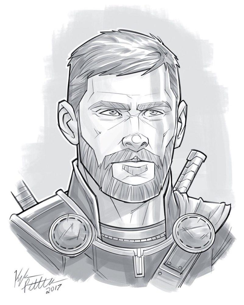 Срисовки Тора из Марвел 14
