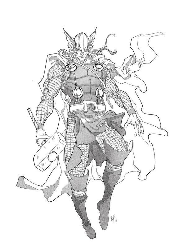 Срисовки Тора из Марвел 3