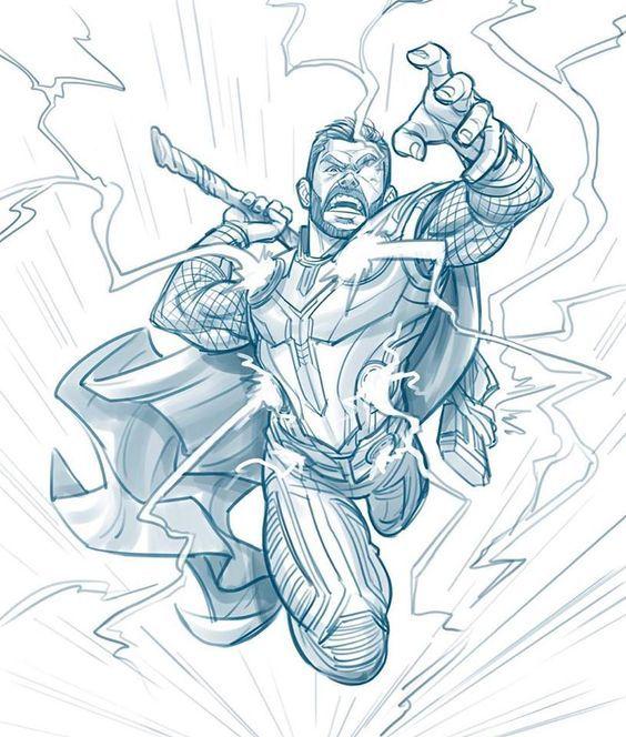 Срисовки Тора из Марвел 4