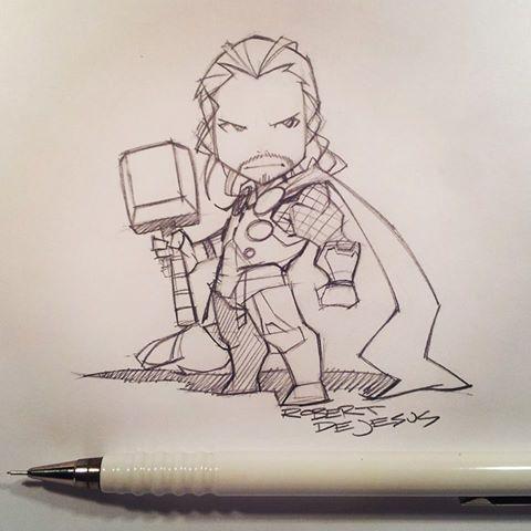 Срисовки Тора из Марвел 5