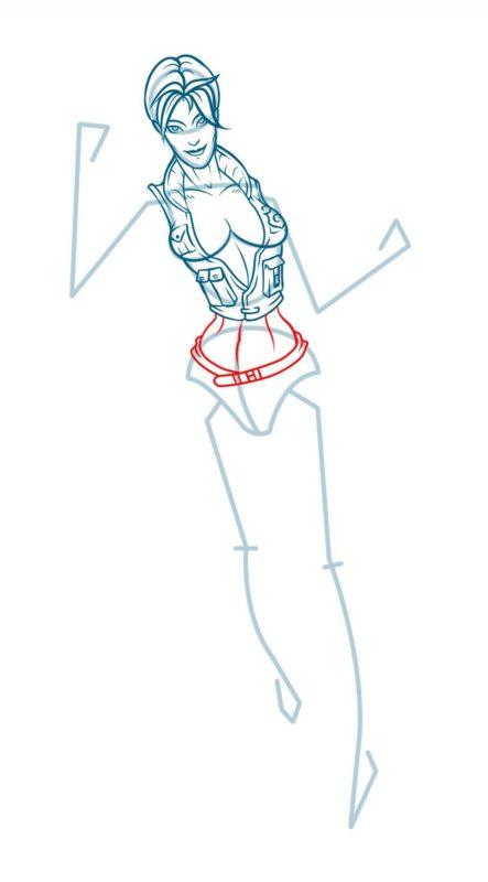 Как нарисовать Соню Блейд 10