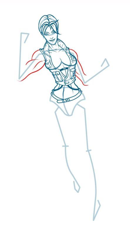 Как нарисовать Соню Блейд 12