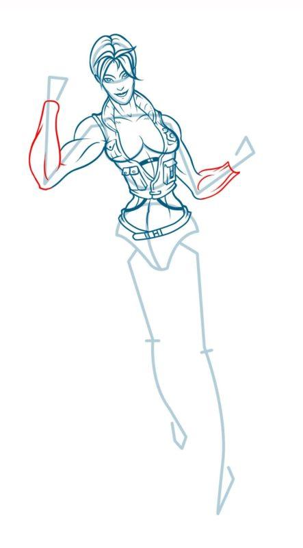 Как нарисовать Соню Блейд 13