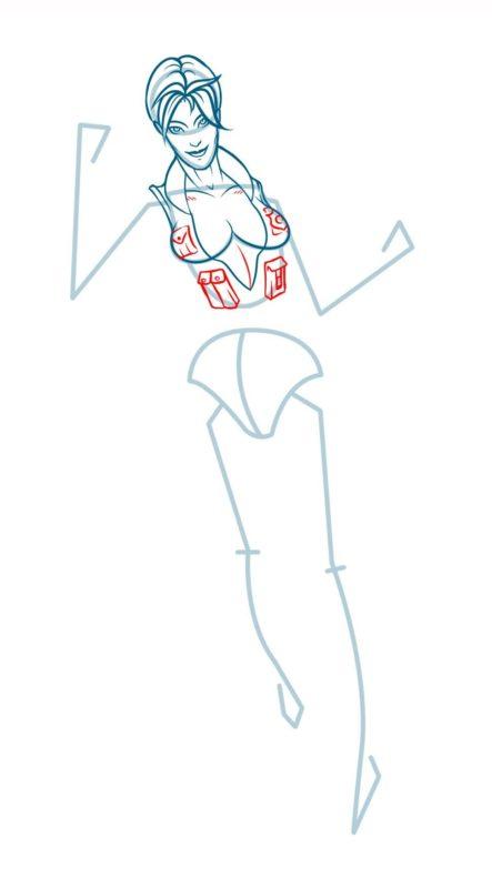 Как нарисовать Соню Блейд 7