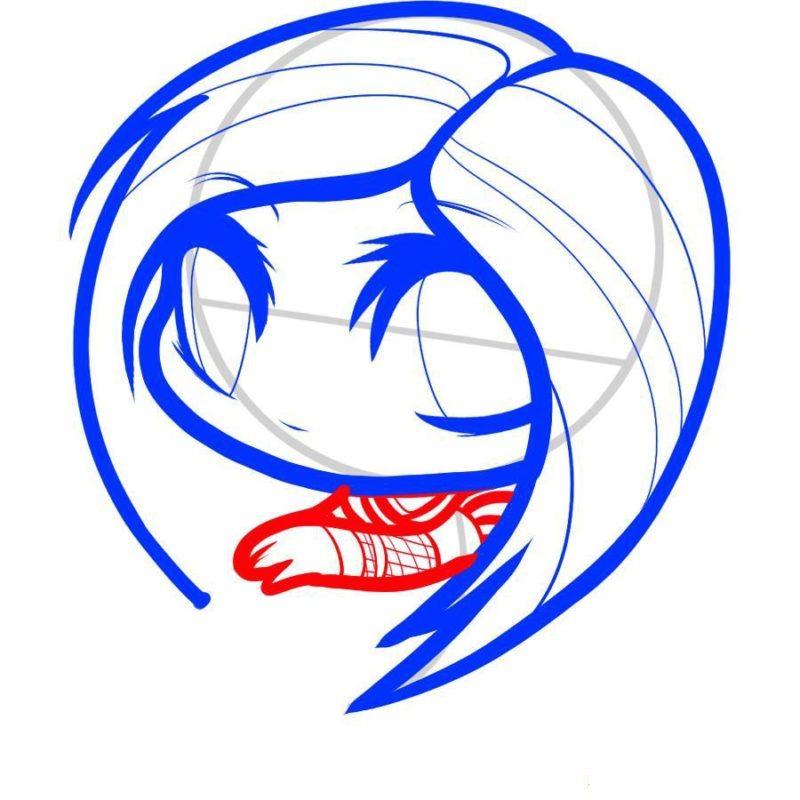 Как нарисовать Аврил Лавин 5