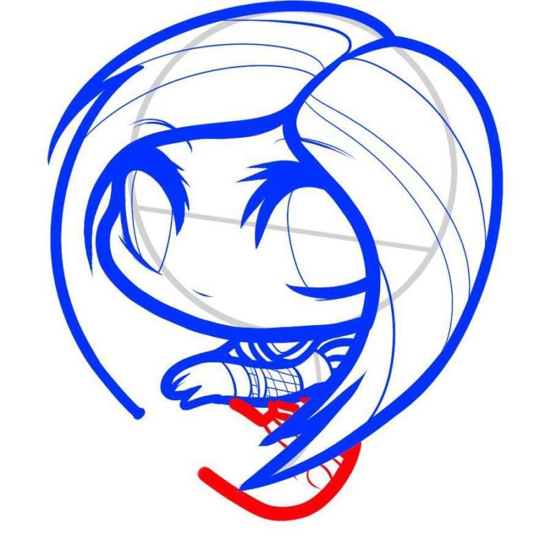 Как нарисовать Аврил Лавин 6