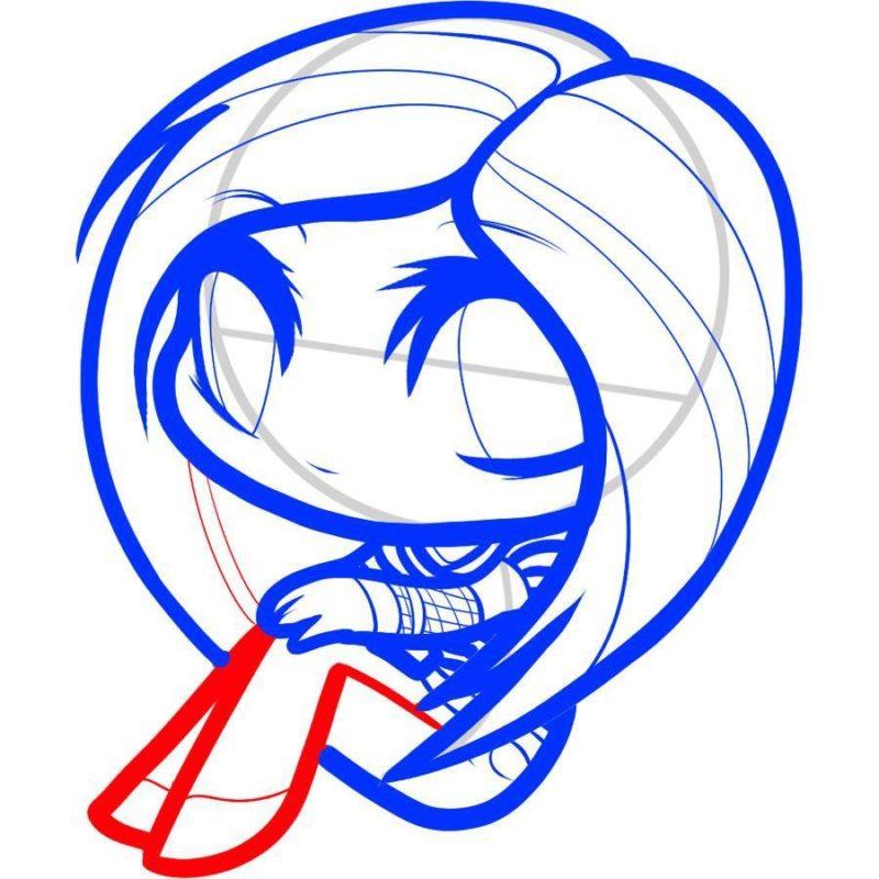Как нарисовать Аврил Лавин 7