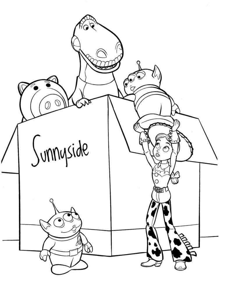 Раскраски из мультфильма История игрушек 17