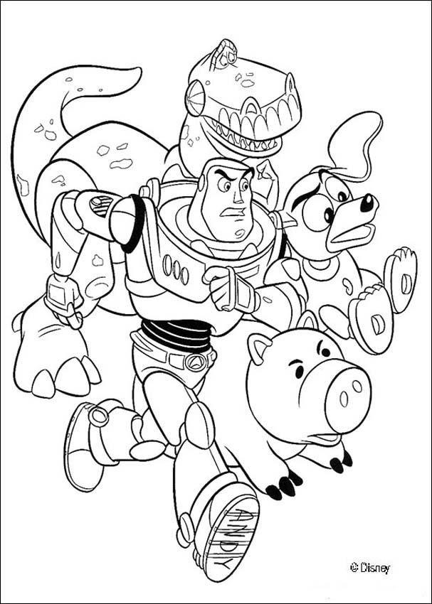 Раскраски из мультфильма История игрушек 3
