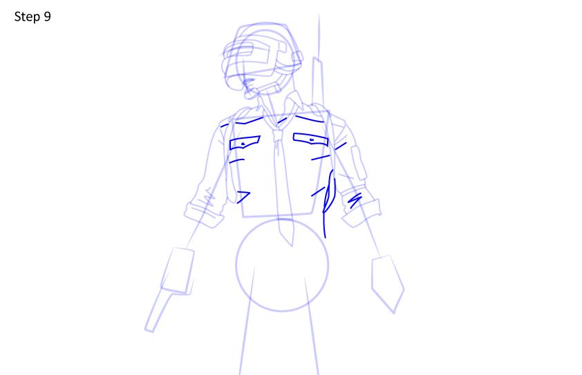 Рисуем игрока PUBG9