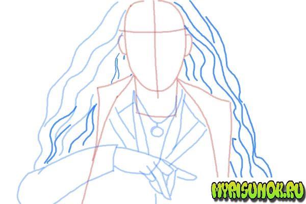 Как нарисовать Алую Ведьму 6