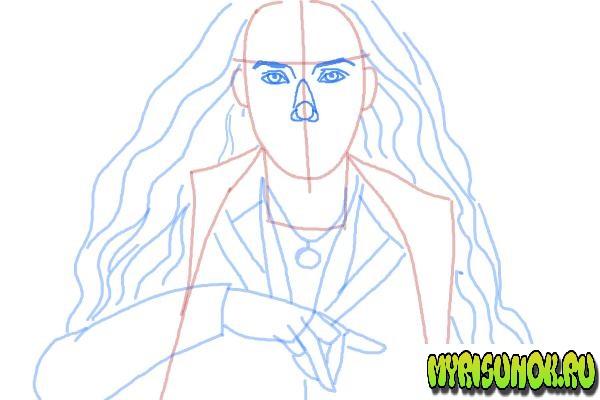 Как нарисовать Алую Ведьму 7