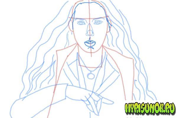 Как нарисовать Алую Ведьму 8