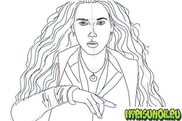 Как нарисовать Алую Ведьму 9