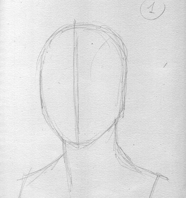 Как нарисовать портрет 3