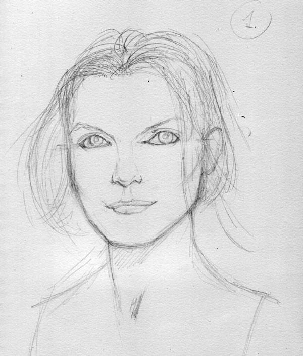 Как нарисовать портрет 6