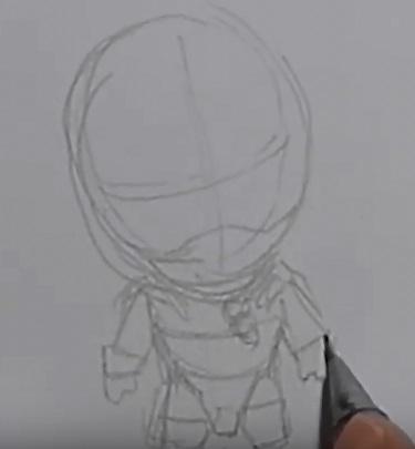 Рисуем чиби Дрого 3