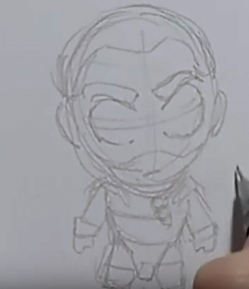 Рисуем чиби Дрого 4