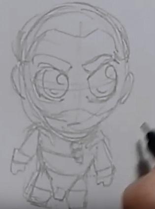 Рисуем чиби Дрого 5