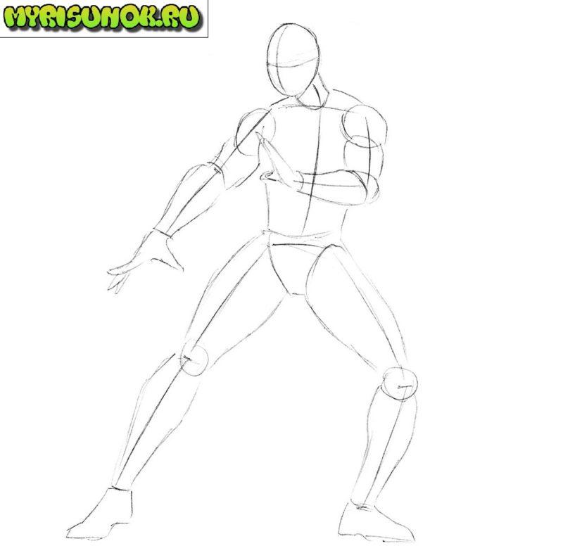 Как нарисовать Кунг Лао 2
