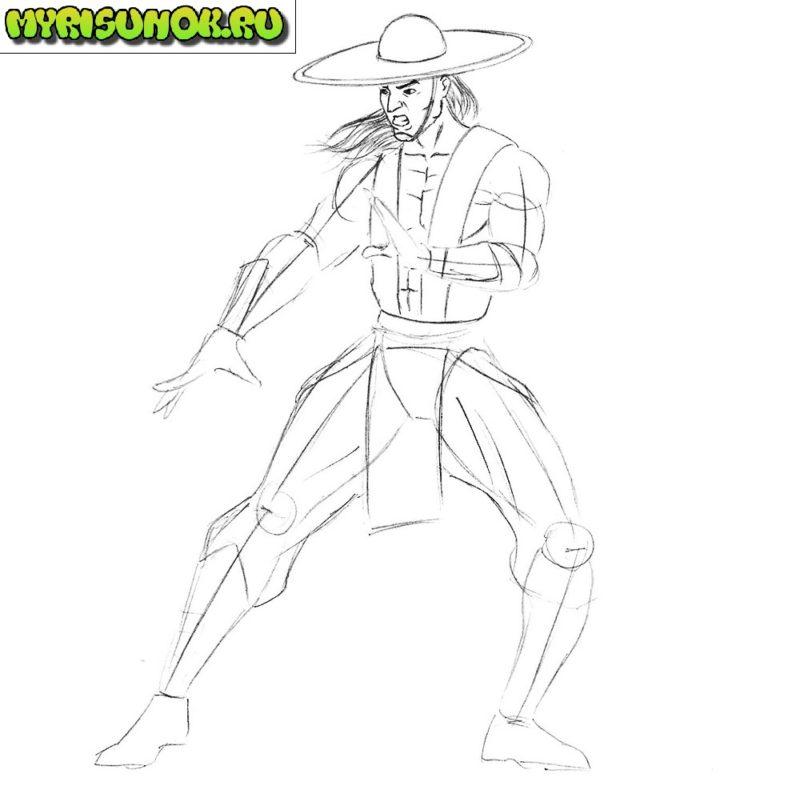 Как нарисовать Кунг Лао 6