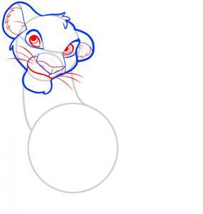 Как нарисовать Короля Льва 4