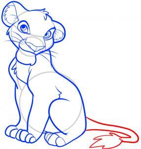 Как нарисовать Короля Льва 8