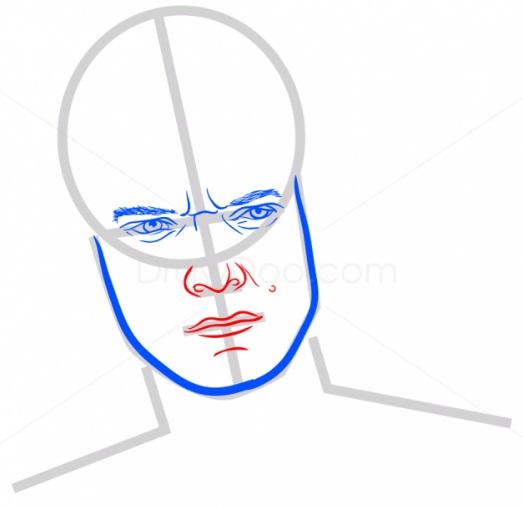 Как нарисовать Теона Грейджоя 5