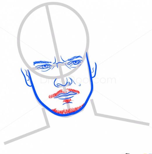 Как нарисовать Теона Грейджоя 6