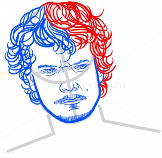 Как нарисовать Теона Грейджоя 7