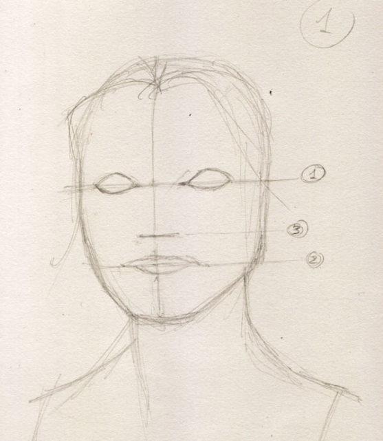 Как нарисовать портрет 4