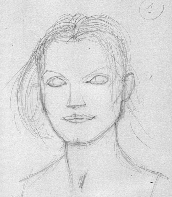 Как нарисовать портрет 5